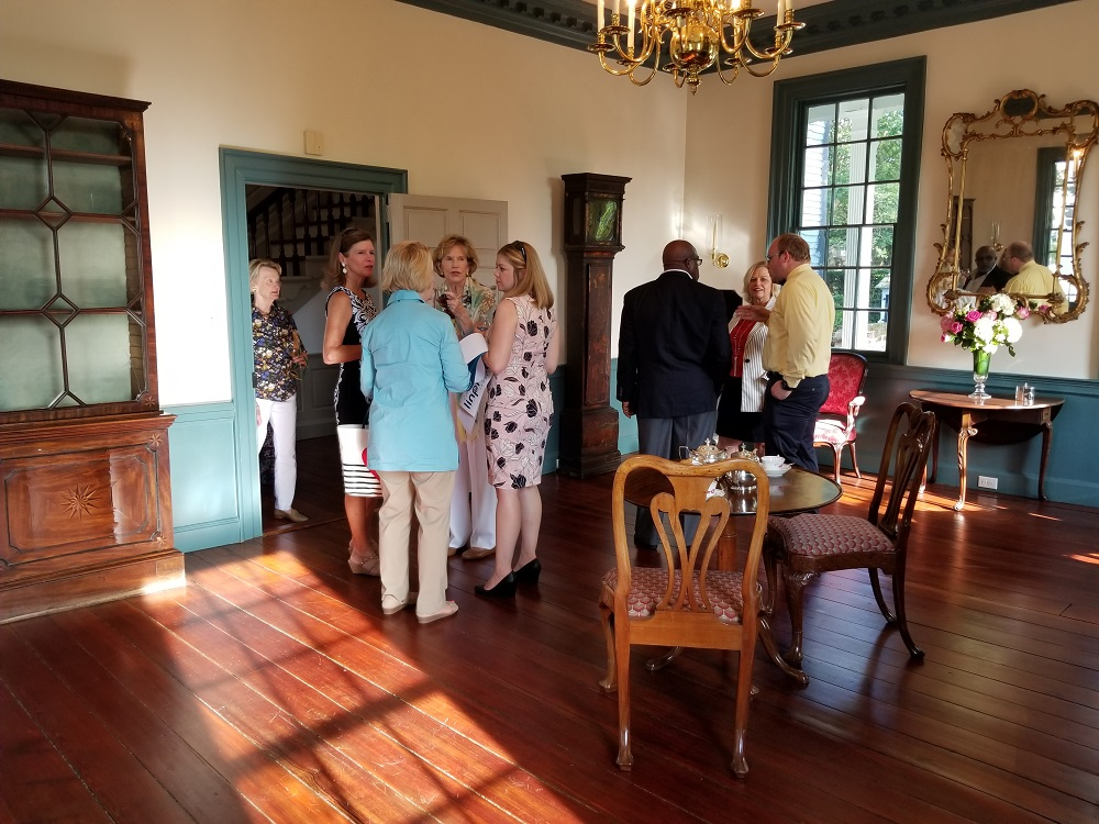 Guests enjoying a tour of the restorations