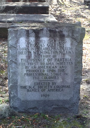 NC Dames Tablet Honoring Thomas Godfrey